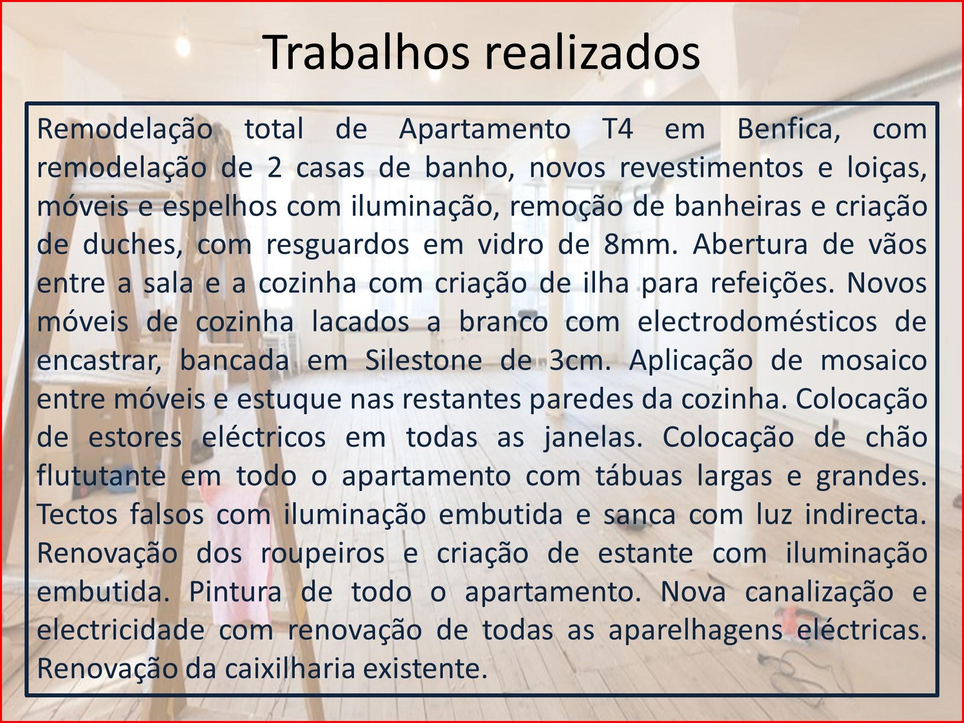 Remodelação Benfica - descrição