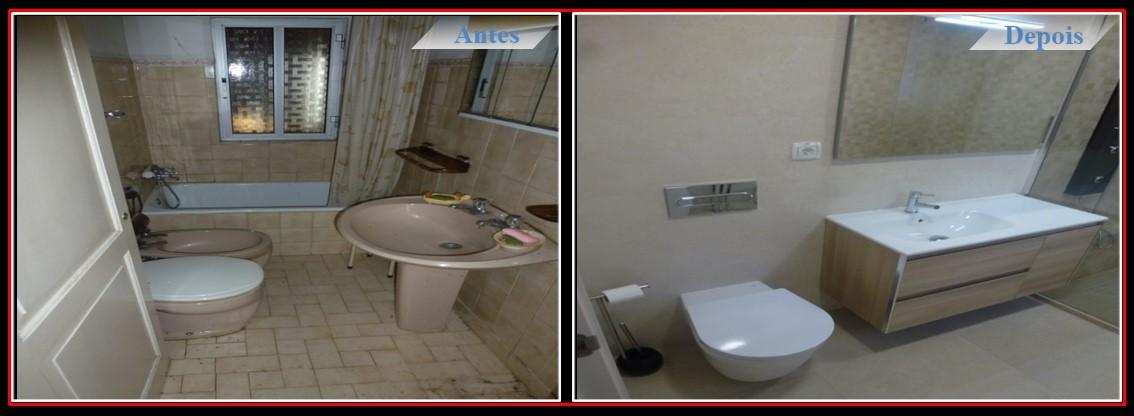 Remodelação Moradia T2 no centro de Lisboa - Casa de banho com duche italiano