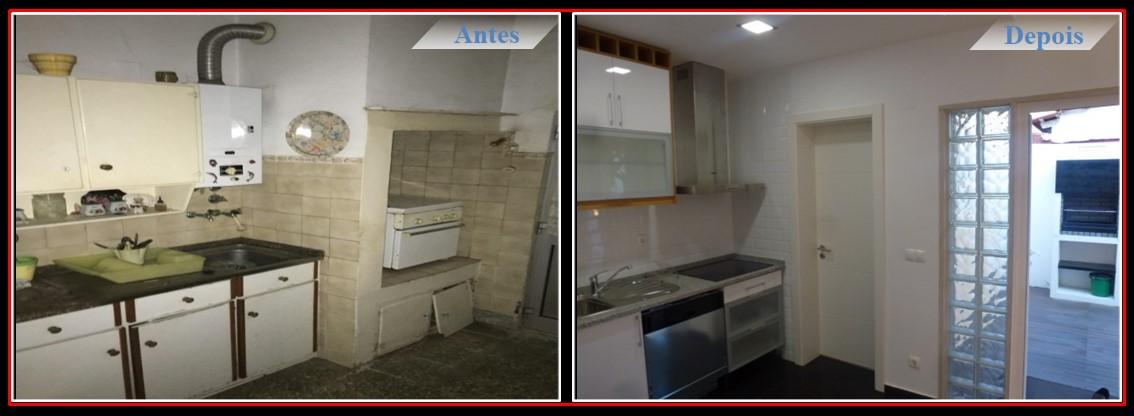 Remodelação Moradia T2 no centro de Lisboa - Cozinha americana
