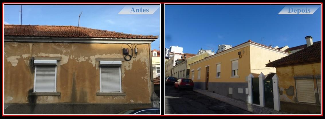 Remodelação Moradia T2 no centro de Lisboa - Renovação das caixilharias, fachadas e telhado com isolamento