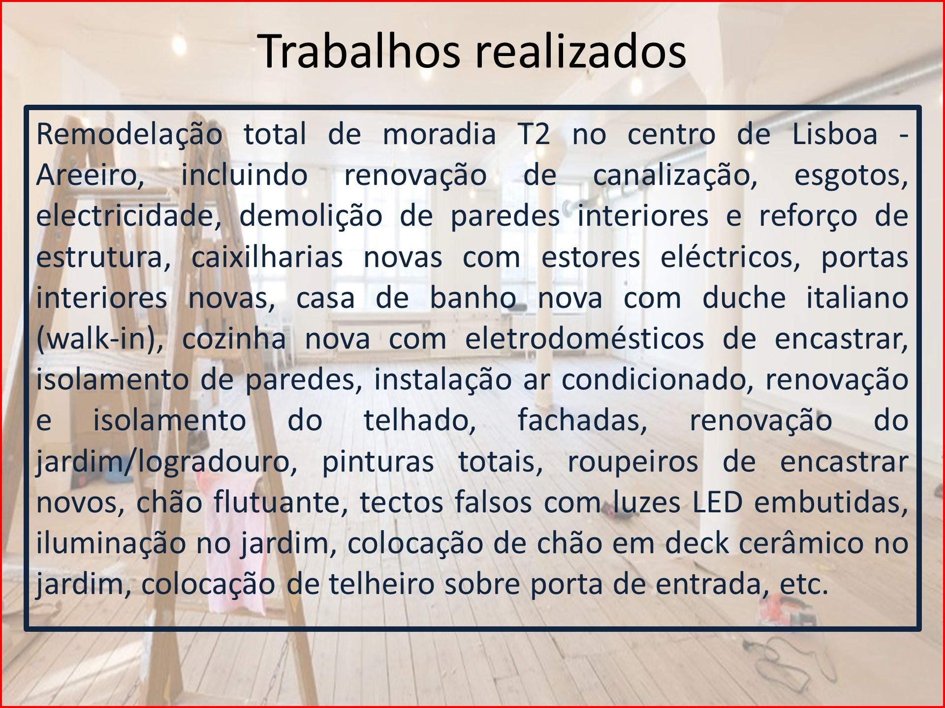 Remodelação Moradia T2 no centro de Lisboa - descrição 2