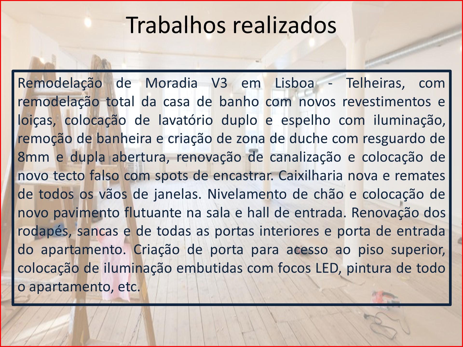 Remodelação Moradia V3 Telheiras - Descrição 2