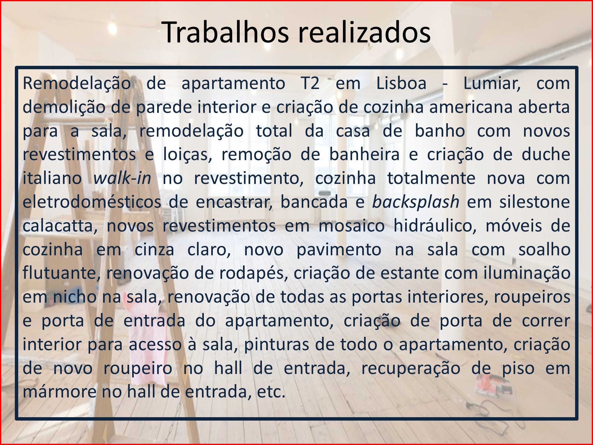 Remodelação de Apartamento T2 Alta de Lisboa - descrição v2