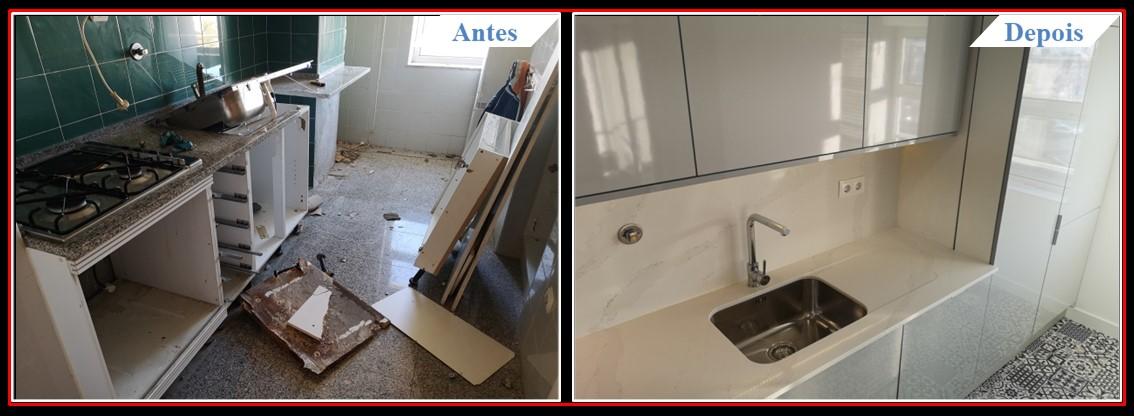 Remodelação de Apartamento T2 Lumiar - Cozinha 1.1