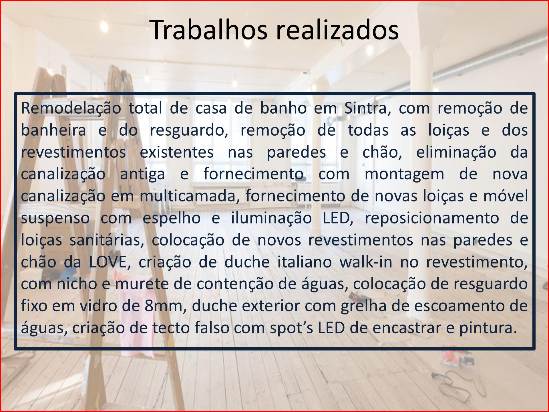Remodelação de casa banho Sintra - descrição 2